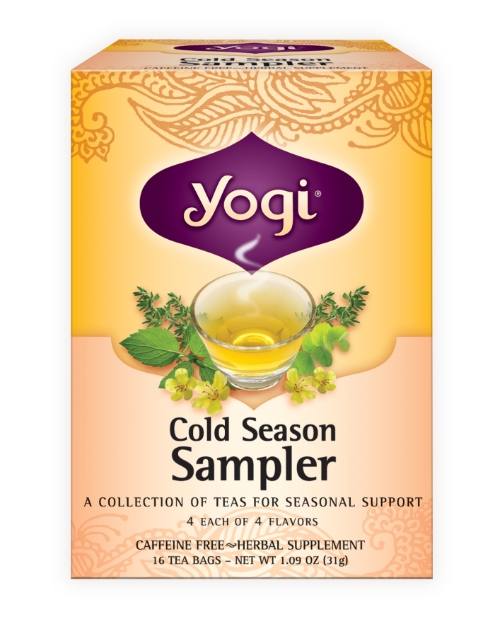 Yogi tea, cold season, sampler, 16 tea bags, 1. 09 oz (31 g.